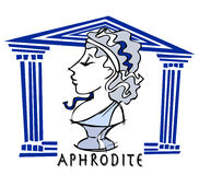 Aphrodite, venus, antykwarska bogini royalty ilustracja