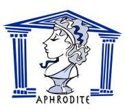 Aphrodite, venus, déesse antique illustration libre de droits