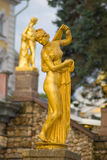 Aphrodite (Venus) Kallipiga. Sculpture of goddess Aphrodite in Peterhof Stock Photo