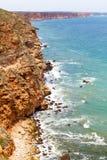 aphroditefödelseorten cyprus nära tou för romiou för paphospetra-rock vågr Royaltyfria Foton