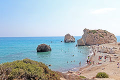 Aphrodites birth place in Cyprus. Royalty Free Stock Photography