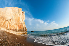 Aphrodites rock. Cyprus. Paphos district Royalty Free Stock Photography
