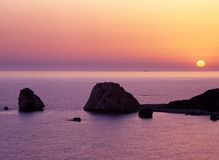 Aphrodites rock, Cyprus. Royalty Free Stock Photo