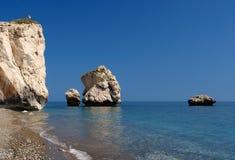 aphroditestrand cyprus royaltyfria foton