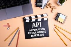 API应用编程界面 信息技术和企业概念 免版税库存照片