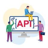 API概念传染媒介 皇族释放例证