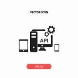 API, ícone da relação de programação de aplicativo Foto de Stock Royalty Free