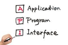 API - Application Program Interface stockfoto