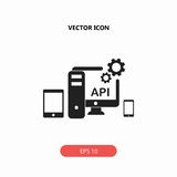 Api, icona dell'Application Programming Interface Fotografia Stock Libera da Diritti