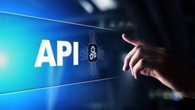 Api - Interface de Programmation d'Application, instrument de développement de logiciel, technologie de l'information et concept  photos stock