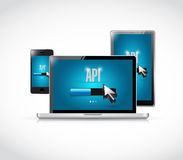 Api technology updates sign concept Royalty Free Stock Photos