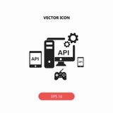 API, toepassing het pictogram van de programmeringsinterface stock foto's