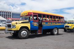 Apia, Σαμόα - 30 Οκτωβρίου 2017: Εκλεκτής ποιότητας λεωφορεία της Toyota στο λεωφορείο Apia Στοκ φωτογραφίες με δικαίωμα ελεύθερης χρήσης