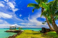 Apia, Samoa. Canopy by the beach Stock Photo