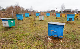 Apiary. At autumn in Belarus royalty free stock photography