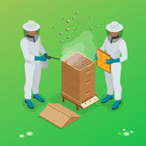 Apiary beekeeper vector illustrations. Apiary vector symbols. Stock Photos