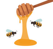 Apiary beekeeper vector illustrations Royalty Free Stock Image