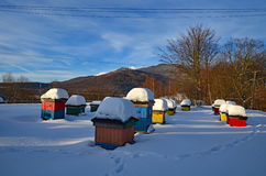 Apiary. In Bieszczady mountains, Polish part of Carpathians Royalty Free Stock Photography