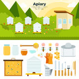 Apiary in the garden Royalty Free Stock Photography
