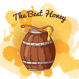 Apiary icon for your design. Vector sketch, sweet natural food. Honey production in hand drawn style Stock Photos