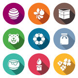 Apiary Icons Set. Vector Illustration Stock Photography
