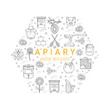 Apiary icons set Stock Photography