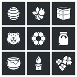 Apiary icons. Vector Illustration. Royalty Free Stock Photo