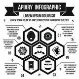 Apiary infographic, simple style Stock Image