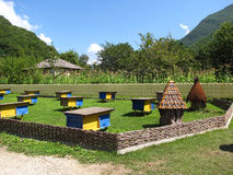 Apiary in the mountains Stock Photos