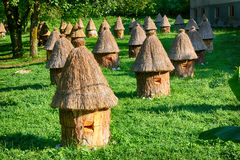 Apiary. In the sunny day. Photo taken on: August 17th, 2014 royalty free stock image