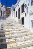 Apiranthos village, Naxos island, Cyclades, Aegean, Greece Stock Images
