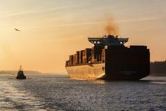 APL Southhampton en el puerto de Hamburgo, Alemania Foto de archivo