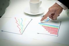 Aplanamento do homem de negócio no quarto de funcionamento Imagens de Stock