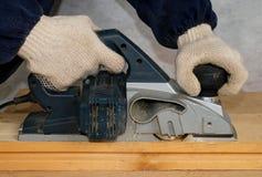 Aplanando a madeira Fotografia de Stock