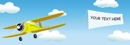 Aplane com a bandeira em branco para seus comercial/texto Foto de Stock
