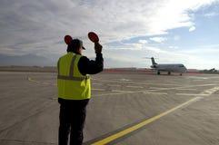 Aplane no aeroporto 9 Imagem de Stock Royalty Free