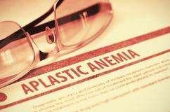 Aplastic bloedarmoede geneeskunde 3D Illustratie Stock Afbeelding