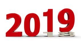 2018-2019 #2 aplatis illustration libre de droits