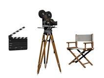 Aplauso do cinema branco e preto - rendição 3d Imagens de Stock