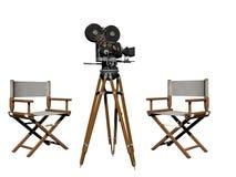 Aplauso do cinema branco e preto - rendição 3d Foto de Stock