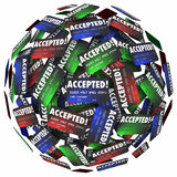 Aplicação aceitada do dinheiro do empréstimo do pagamento com cartão de crédito aprovada Foto de Stock