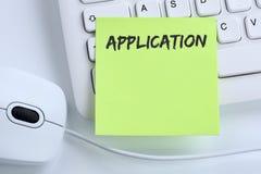 A aplicação aplica trabalhos, busine de trabalho dos empregados do recrutamento do trabalho fotografia de stock