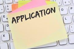 A aplicação aplica trabalhos, busine de trabalho dos empregados do recrutamento do trabalho fotos de stock