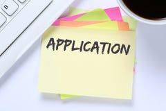 A aplicação aplica trabalhos, busine de trabalho dos empregados do recrutamento do trabalho fotos de stock royalty free