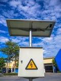 Aplicação da célula solar Foto de Stock