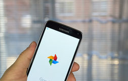 Aplicação das fotos de Google Imagem de Stock