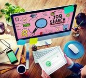 Aplicação de aluguer C de Job Search Qualification Resume Recruitment imagem de stock