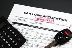 A aplicação de empréstimo automóvel aprovou 001 Fotos de Stock Royalty Free