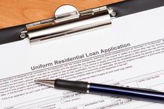 Aplicação de empréstimo da hipoteca Imagem de Stock Royalty Free