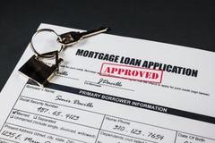 A aplicação de empréstimo hipotecário aprovou 002 Fotos de Stock